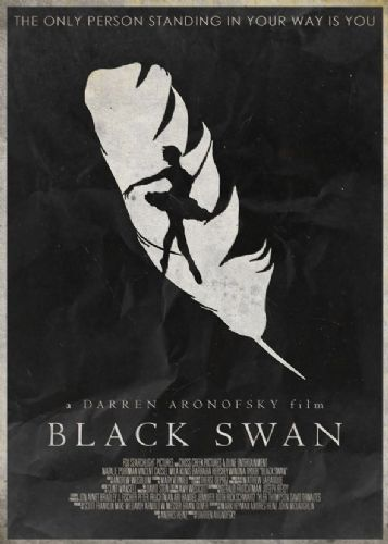 2010's Movie - BLACK SWAN MINIMALIST canvas print - self adhesive poster - photo print